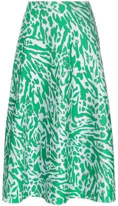 Vika Gazinskaya leopard print pocketed midi skirt