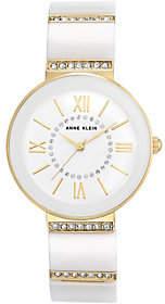 Anne KleinAnne Klein White Ceramic Watch with Swarovski Accents