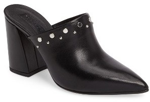 Women's Topshop Studded Flared Heel Mule $100 thestylecure.com