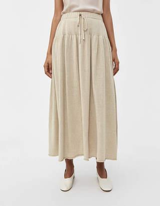 LAUREN MANOOGIAN Tier Linen Skirt