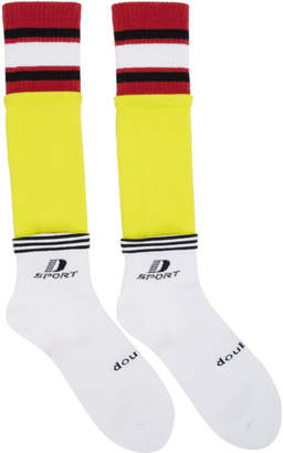 Doublet White and Yellow 3 Layered Sport Socks