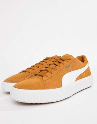 Puma Breaker Suede Sneakers In Yellow 36662501