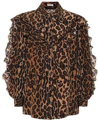 Miu Miu Leopard-printed silk shirt