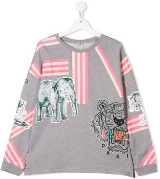 Kenzo striped tiger sweater