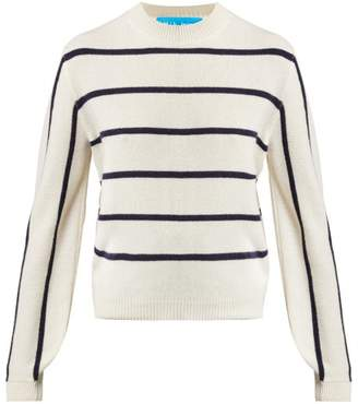 MiH Jeans Ashton Striped Cashmere Sweater - Womens - Cream Navy