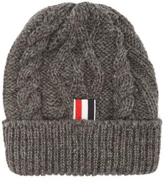 Thom Browne - Aran Cable Knit Beanie - Mens - Grey