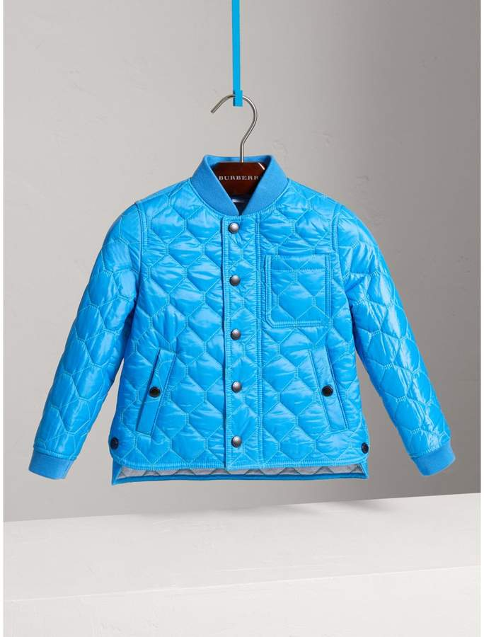 Contrast Topstitch Detail Quilted Jacket