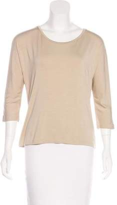 Max Mara Scoop Neck Three-Quarter Top