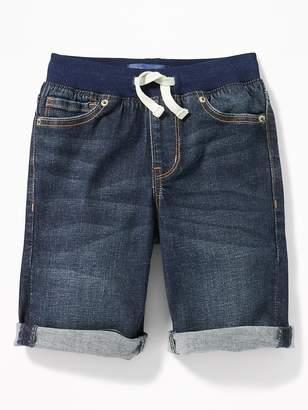 Old Navy Karate Slim Rib-Waist Built-In Flex Max Denim Shorts for Boys