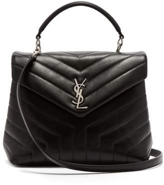 Saint Laurent Loulou Quilted Leather Shoulder Bag - Womens - Black