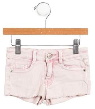 Zadig & Voltaire Girls' Raw-Edge Mini Shorts