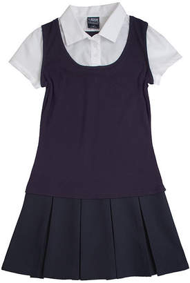 JCPenney French Toast 2-in-1 Pleated Dress - Girls 7-16