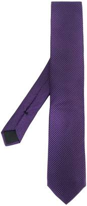 HUGO BOSS geometric embroidered tie