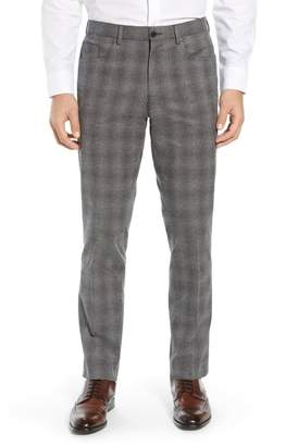 Nordstrom Trim Fit Plaid Trousers