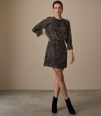 Reiss MELANIA DITSY PRINTED MINI DRESS Multi