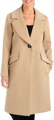 Rachel Roy Single-Breasted Wool Trench Coat