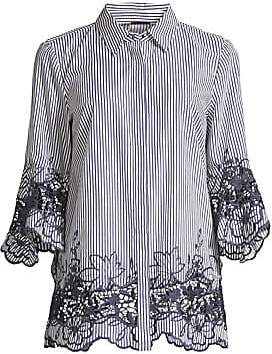 Elie Tahari Women's Clark Embroidered Striped Shirt