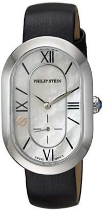 Philip Stein Teslar Women's 'Modern' Swiss Quartz Stainless Steel and Leather Casual Watch