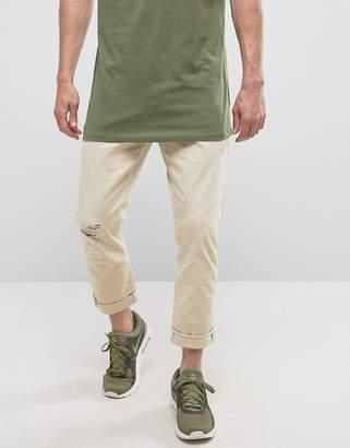 Esprit Slim Fit White Denim Jeans