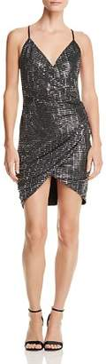 Aqua LUXE Capsule Embellished Ruched Dress - 100% Exclusive