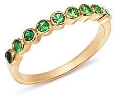 SheBee 14K Yellow Gold Ombré Tsavorite Ring