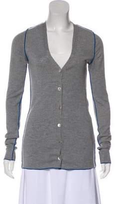Stella McCartney Virgin Wool Knit Cardigan grey Virgin Wool Knit Cardigan