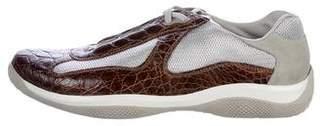 Prada Sport America's Cup Crocodile Sneakers w/ Tags