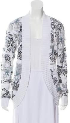 Alberto Makali Lace-Trimmed Knit Cardigan