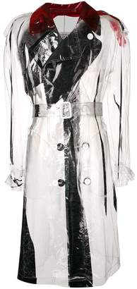 Maison Margiela PVC trench coat