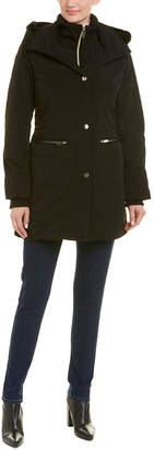 Gloria Vanderbilt Puffer With Collar Black