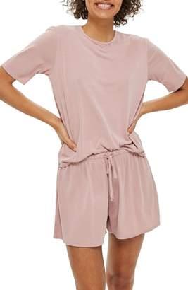 Topshop Cupro Pajama Top
