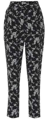 Co Floral jacquard pants