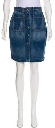 Rag & Bone A-Line Knee-Length Skirt