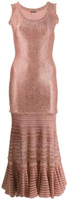 Alexander McQueen laddered knit midi dress