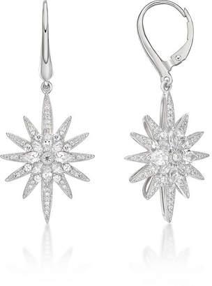 FINE JEWELRY Diamonart 1 7/8 Ct. T.W. White Cubic Zirconia Sterling Silver Star Drop Earrings