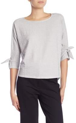 Bobeau Textured Knit Top (Regular & Petite)