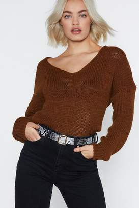 Nasty Gal Slither On Faux Leather Belt