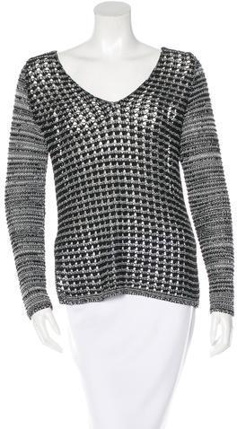Helmut LangHelmut Lang Open Knit V-Neck Sweater