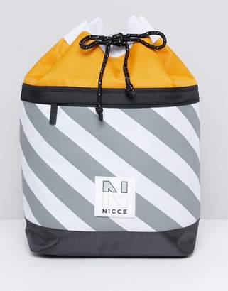 Nicce London duffle backpack in stripe