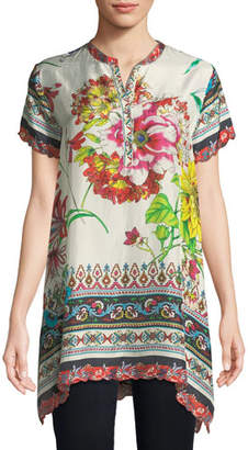 Johnny Was Victoriana Printed Georgette Tunic