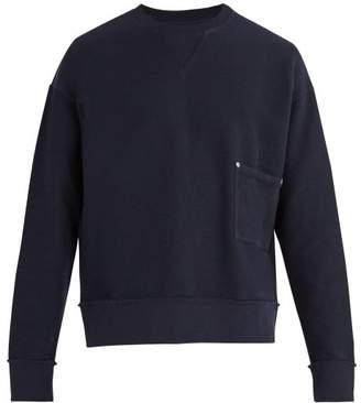 Maison Margiela Crew Neck Cotton PiquA Sweatshirt - Mens - Navy