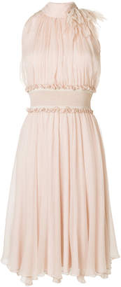 Blumarine sleeveless ruffled dress