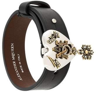 Alexander McQueen heart charm bracelet