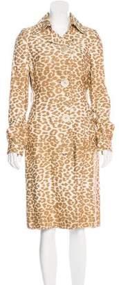 Tuleh Cheetah Print Long Coat