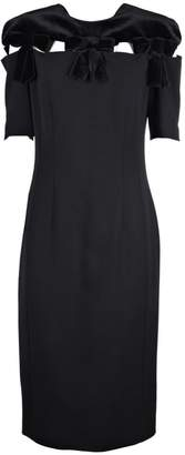 Fendi Bow Embellished Pencil Dress