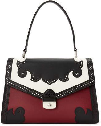 Longchamp Red Effrontee Color Block Leather Satchel 093e93823a62c