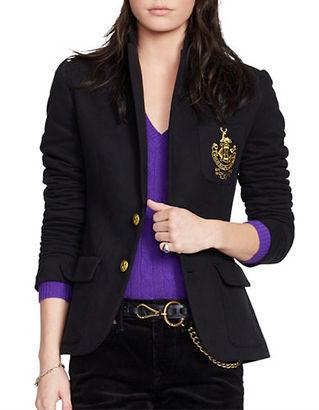 Polo Ralph Lauren Custom Fit Fleece Blazer $265 thestylecure.com