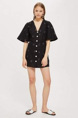 Topshop Arrow linen mini dress