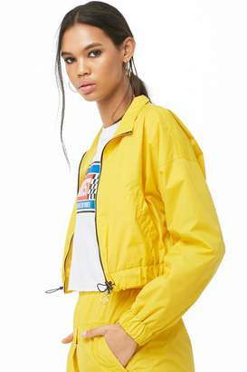 Forever 21 Pull-Ring Windbreaker Jacket