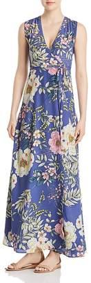 Yumi Kim Swept Away Floral-Print Silk Wrap Maxi Dress